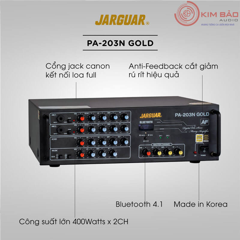 Amply Jarguar PA 203N Gold Anti Feedback-01